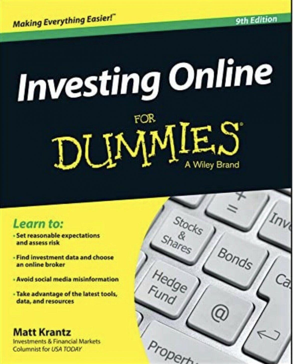 NEW Investing Online for Dummies by: Matthew Krantz (Trade Paperback)