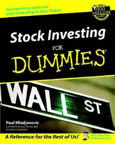 Stock Investing For Dummies (For Dummies (Lifestyles Paperback)) – GOOD