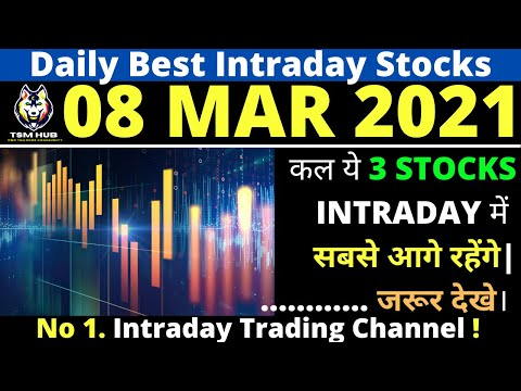 Best Intraday Stocks for Tomorrow [08 MAR 2021] | Intraday Trading with TheStockMantra