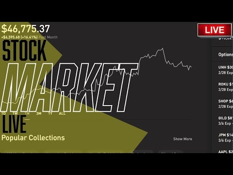 TRADING THE REFLATION & STIMULUS  – Live Trading, DOW, Robinhood, Stock Market Live & STOCK NEWS