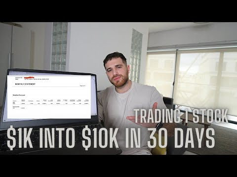 How This Trader Turned $1000 into $10,000 in 30 Days Trading Stocks