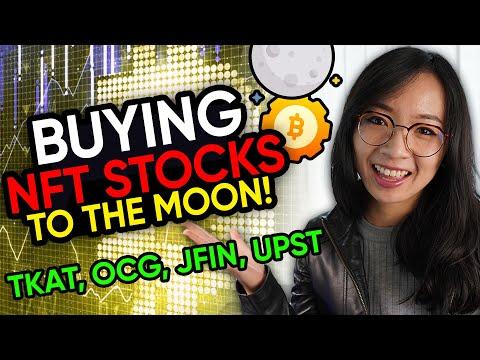 Buying NFT Stocks $TKAT $OCG $JFIN $AMC $UPST trading recap