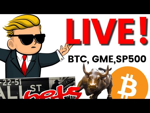 🔴Day Trading Live: Tuesday Open Bitcoin, GME, AMC🚀🚀, TSLA, S&P 500💎🙌? [Stock Market]