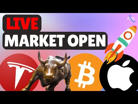 🔴LIVE –  Day Trading Stock Market Open! Bitcoin, Nasdaq (QQQ), S&P 500, Ethereum, TSLA!💎🙌💎