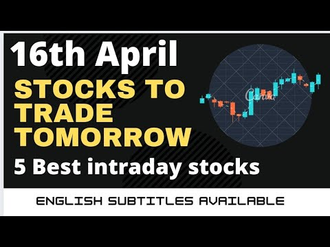 Daily Best Intraday Stocks || 16th April 2021 || Stocks to trade tomorrow.