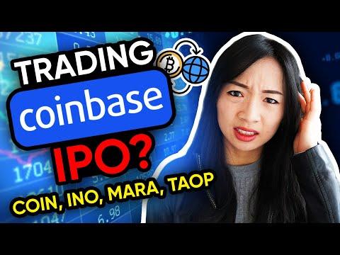 Trading Coinbase IPO? $INO $MARA $TAOP $COIN stock trading recap