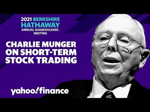 Charlie Munger on short-term stock trading