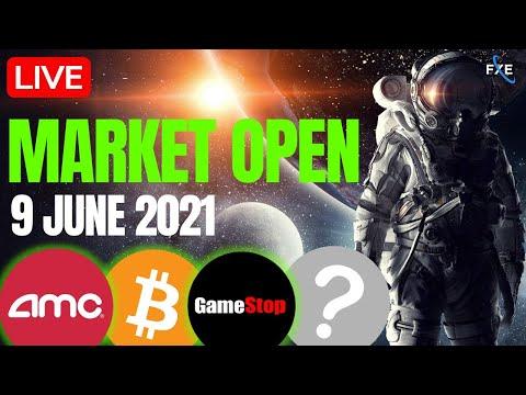 🔴LIVE -Stock Market Open Wednesday, CLOV =The New AMC? AMC, GME, Nasdaq, SP500, Bitcoin