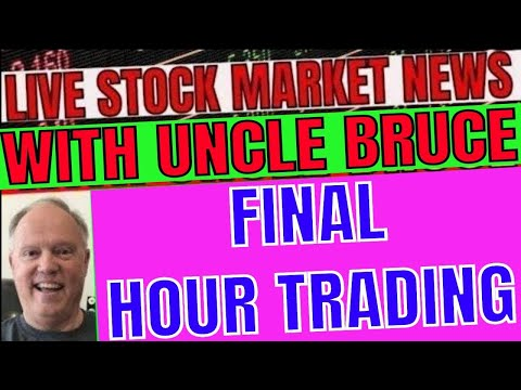 Live Final Hour of Trading Stock Market In Plain English with Uncle Bruce GME SOFI ATIP GHVI
