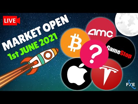 🔴LIVE – Day Trading Stock Market Open Tuesday Nasdaq, AMC, GME, SP500, Bitcoin