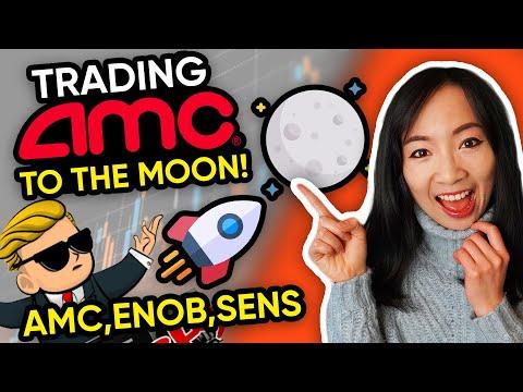 Trading $AMC Stock Dip Buy! $SENS $ENOB $AMC WallStreetBets Stocks Trading recap