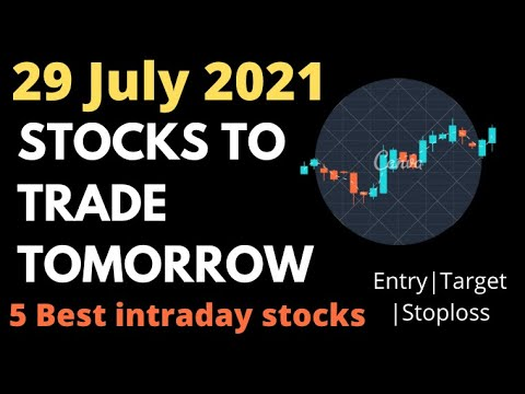 Daily Best Intraday Stocks || 29th July 2021 || Stocks to trade tomorrow.