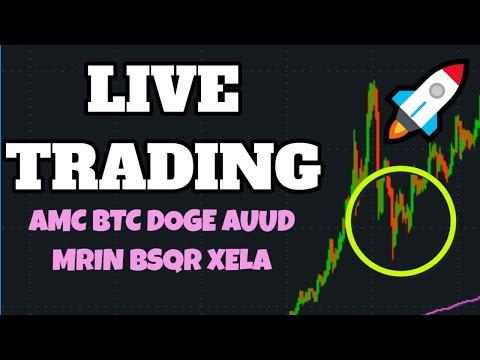🔴STOCK MARKET LIVE! AMC Stock? Day Trading, Dogecoin, Stock Picks, TSLA, Penny Stocks CRTD OXBR XELA