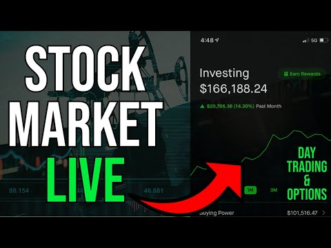 STOCK MARKET TURNING RED – Live Trading, DOW & S&P, Stock Picks, Day Trading & STOCK NEWS