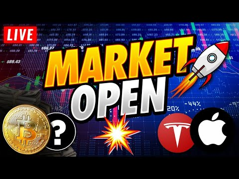 🔴Stock Market Live Monday, Earnings Begins But Which Will Move?🙌💎 Nasdaq, SP500, SPCE, Bitcoin, TSLA