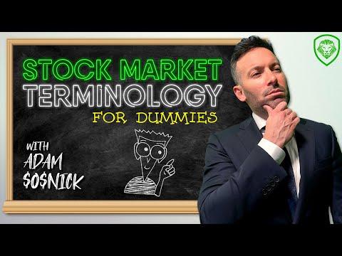 Stock Market Terminology for Dummies