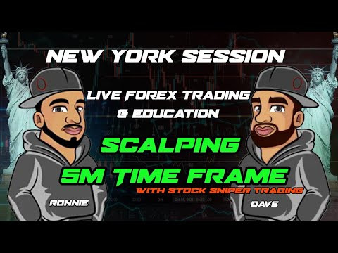 Live Forex Trading –  New York Session – Scalping 5 Min TF