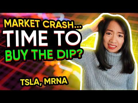 Stock Market Crash – Is it Time To Buy The Dip? $MRNA $TSLA trading recap