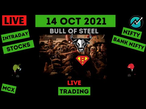 Live Intraday Trading on 14 Oct 2021   Nifty Trend Today   Banknifty Live Intraday Strategy Today